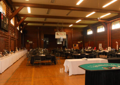 The Field House Gym set up for a fundraiser.