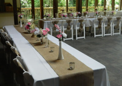 Reception set up. Perfect for small family and company celebrations and events.
