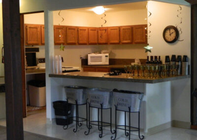 Event rental includes full use of the kitchen. Use any caterer or self-cater.