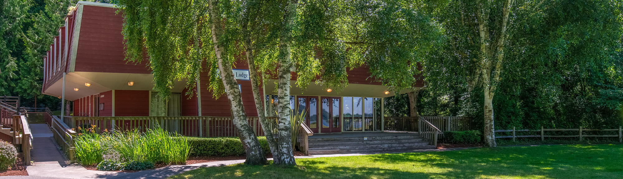 Founders Lodge - Event Rental - Front Entry
