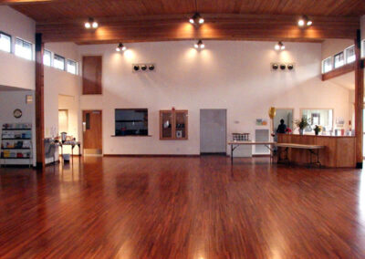 5,448 sg. ft. Mt. Rainier room in the Activity Center; all rooms have hardwood floors.