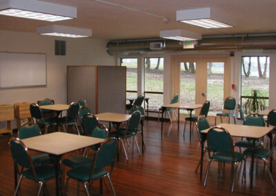 A commercial kitchen and two auxiliary rooms are also available at the Activity Center.