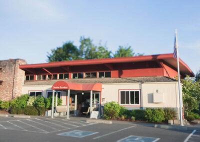 The Des Moines Activity Center's front entrance.
