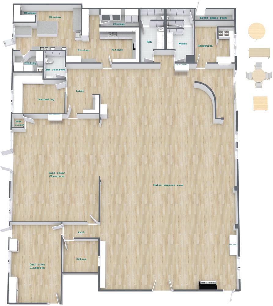 Activity Center floor plan 3d