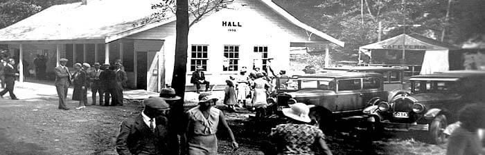Historic photo of the auditorium at the Beach Park Event Center.