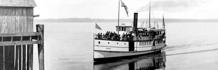 For many years, boats transported visitors to and from what is now the Beach Park Event Center.