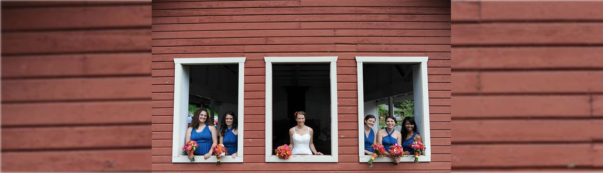 Bridal Party Picnic Shelter Windows