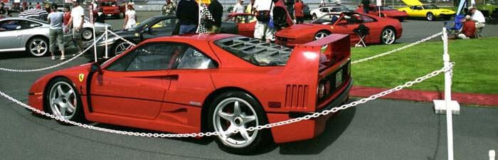 Car show at the Des Moines Marina floor center parking lot.