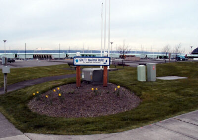 South Marina Park has 10,000 sq. ft. of grassy and paved areas plus 28 adjoining parking stalls.