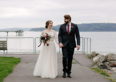 Wedded bliss (next to the Promontory). Photo credit Kayley Driggers Photography.